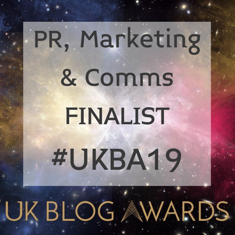 UK Blog Awards 2019 Finalist