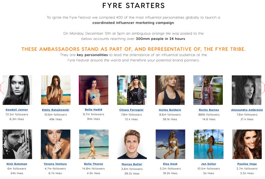 Fyre Festival Influencer Marketing