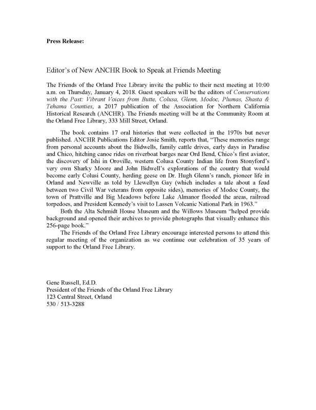 FOL meeting Press Release - 27 Dec 2017