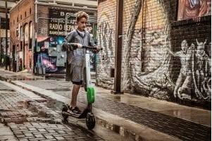Riding The Wave Of The Future On A Dockless E-Scooter