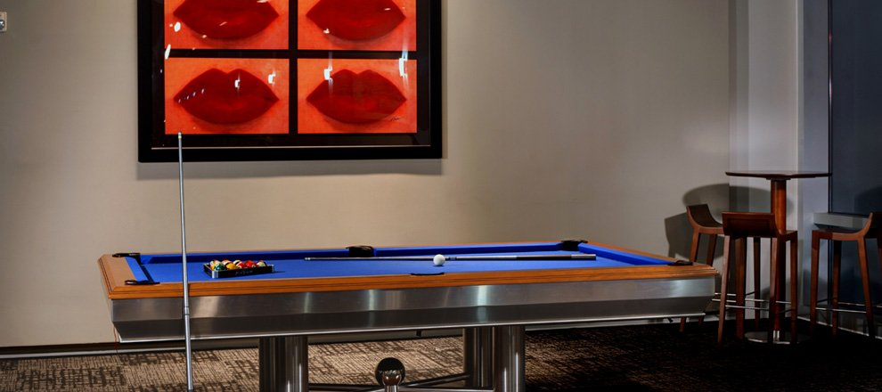 The VUE Pool Table. The Vue At Lake Eola Downtown Orlando