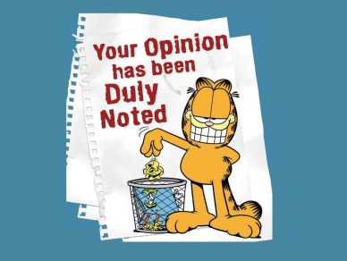 accept orlando espinosa your opinion has been duly noted.