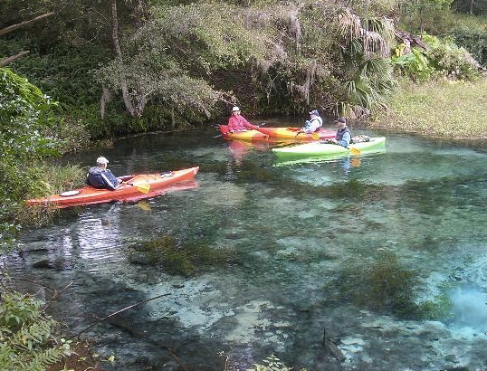 Kayaking in Rainbow Springs River