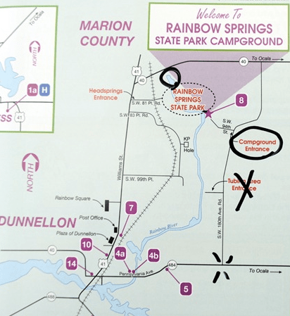 Map of Rainbow Springs