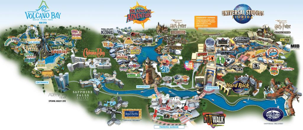 2017 Printable Park Map Universal Studios Orlando