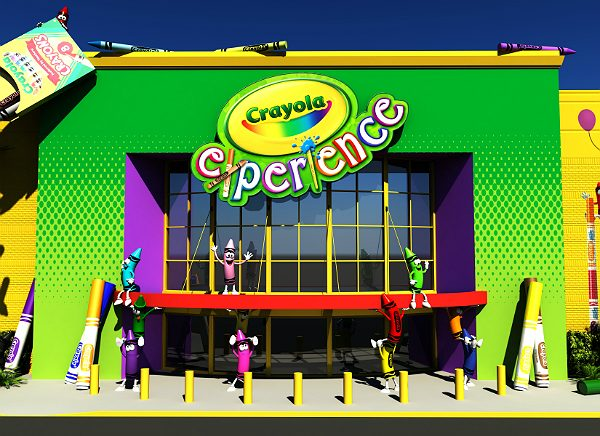 Free things to do in Orlando virtual: image of the outside of Crayola Experience Orlando