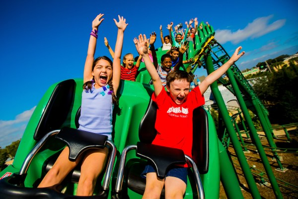 LEGOLAND Florida: image of kids on rollercoaster