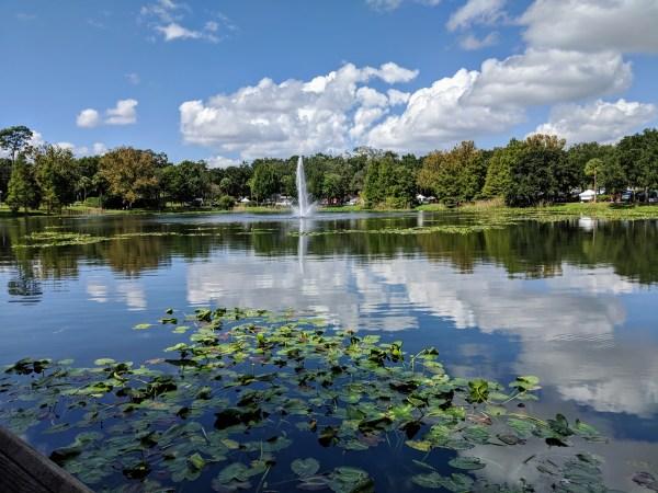 Walking paths near Orlando: image of Lake Lily in Maitland, Florida
