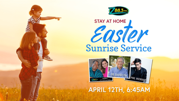 Easter services Orlando: image of graphic for z88.3 Easter service
