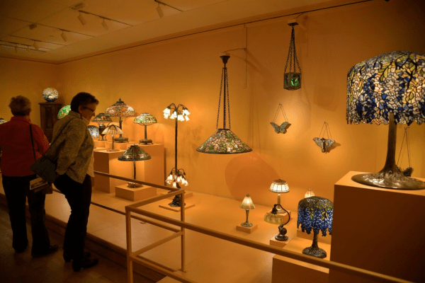 Free museum days: image of Tiffany glass at The Charles Hosmer Morse Museum of American Art