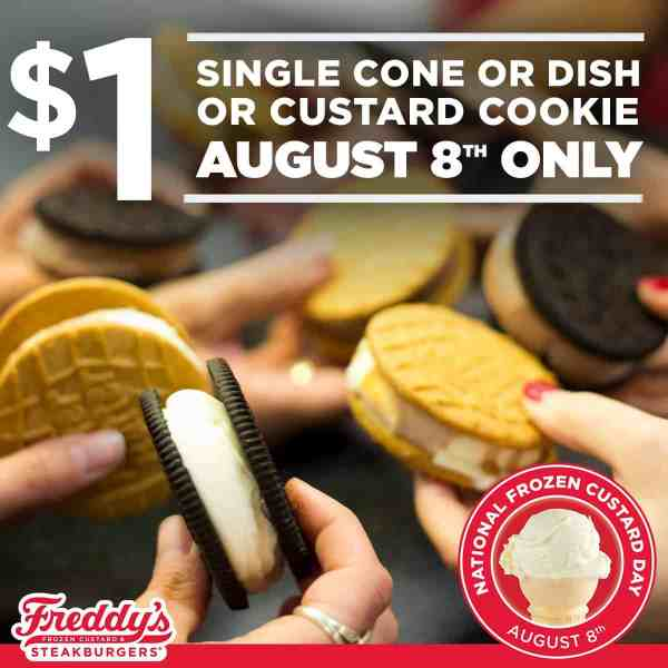 Freddy's frozen custard $1