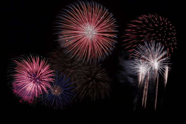 New Year's Eve fireworks Orlando: image of fireworks bursting in the night sky
