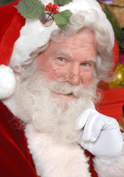 Where to meet Santa Orlando: image of Santa Claus at ICON Park, The Santa Workshop Experience