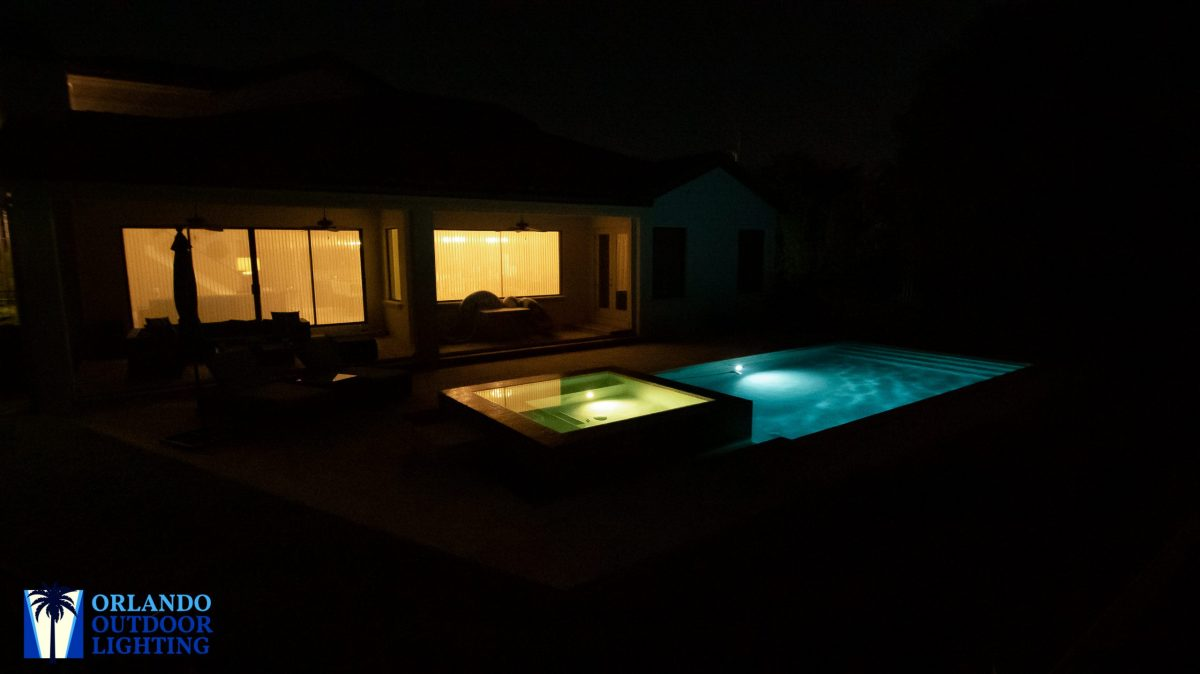 Pool and deck lights off