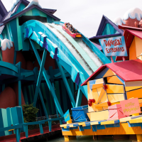 Dudley Do-Right's Ripsaw Falls at Universal's Islands of Adventure Closed for Refurbishment