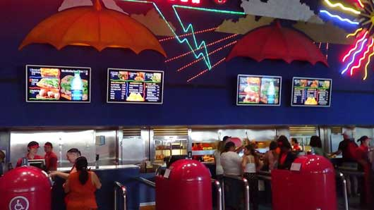 The Electric Umbrella Restaurant at Epcot | Impossible to Miss