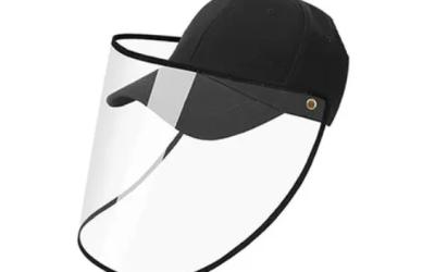 Casquette avec visière transparente