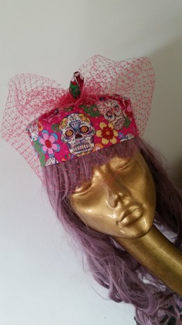 'day of the dead' 1950's Rockabilly inspired hat