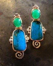 OS - turquoise earrings