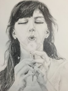 graphite drawing on paper