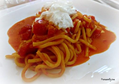 Pasta with burratina