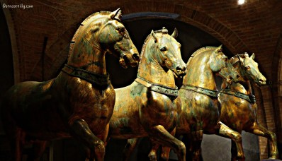 Original four bronze horses of San Marco