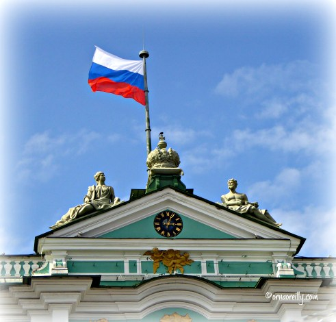 Russian flag over Winter Palace