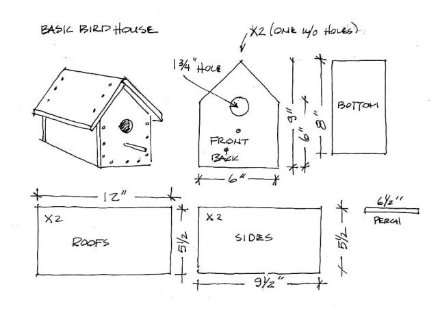 basic birdhouse