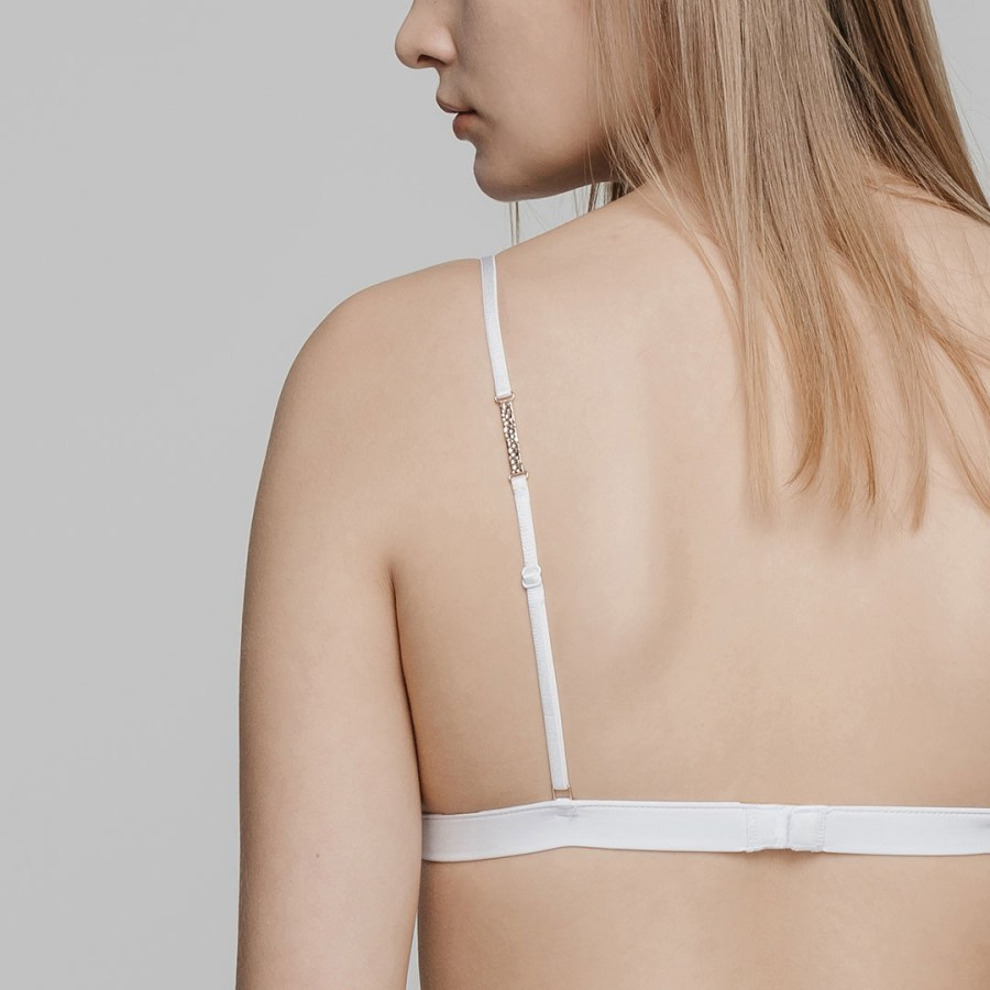 variable  Triangle Soft-Cup Bra Set   White