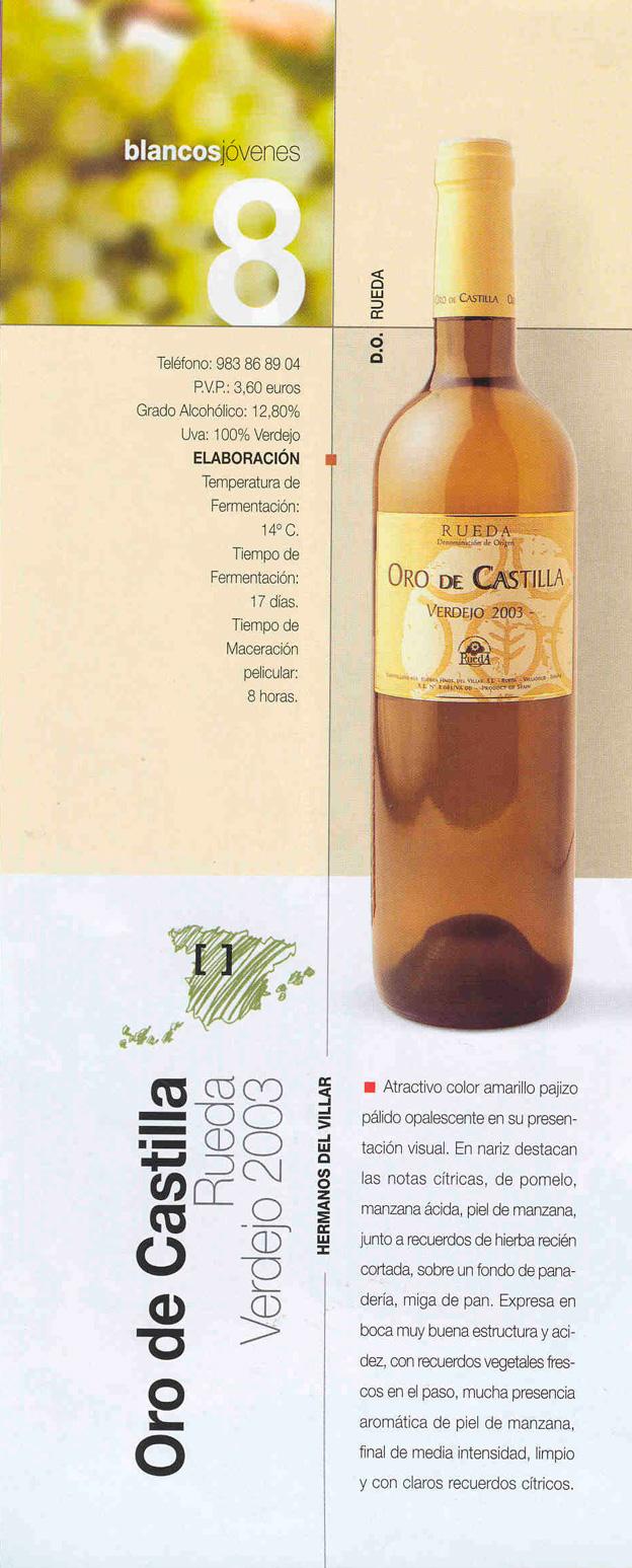 Oro de Castilla Rueda Verdejo 2003