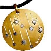 colgante de oro bicolor aurea