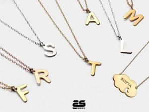 Gargantillas de oro Sotoca con tu nombre o inicial
