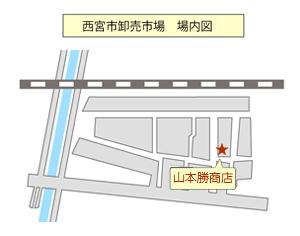 山本勝商店 場内マップ
