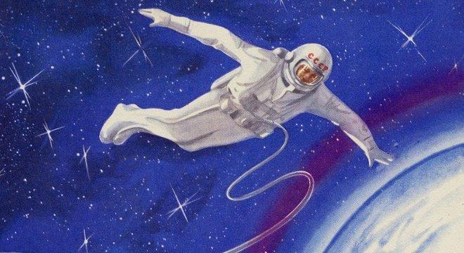 Este é traje Sokol-KV2 que os astronautas russos usam hoje, desde os anos 1980
