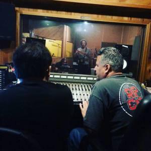 Bruce on the rhythm overdubs.