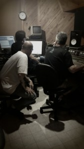 Finishing up a few things before handing over the tracks to Scott to Mix and master for us.