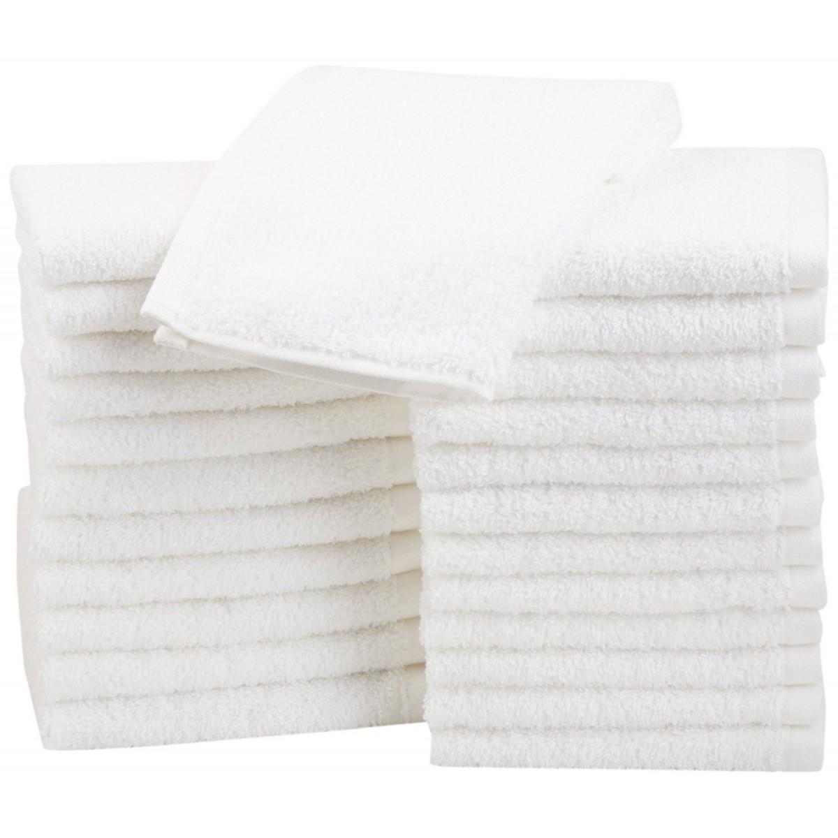 serviettes et draps de bain divers dimensions 500gr m pur coton egyptien blanc hotel prix ttc