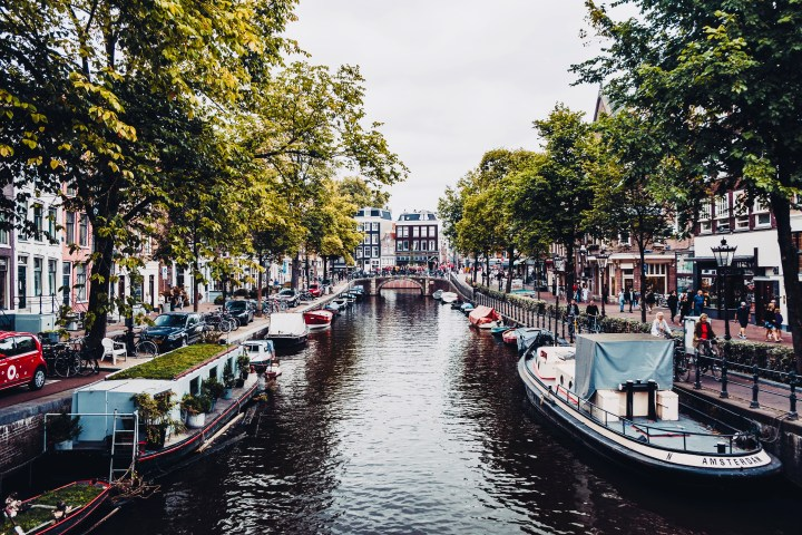 Embark on a canal boat tour in Amsterdam