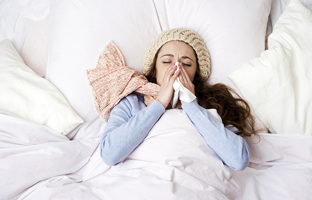 influenzásan sok pihenés szükséges