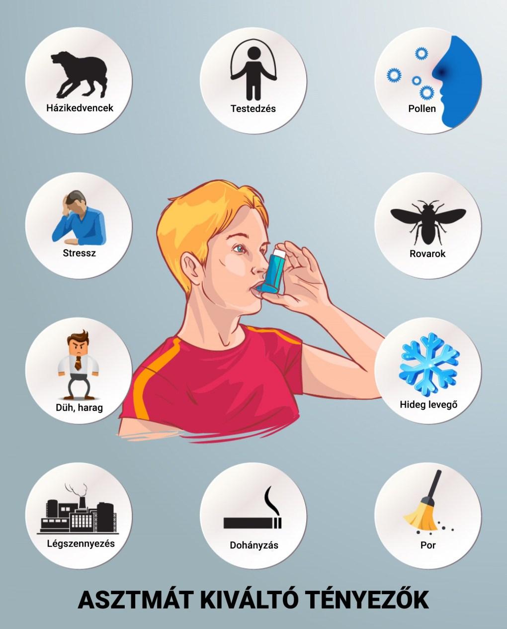 Asztmát kiváltó tényezők