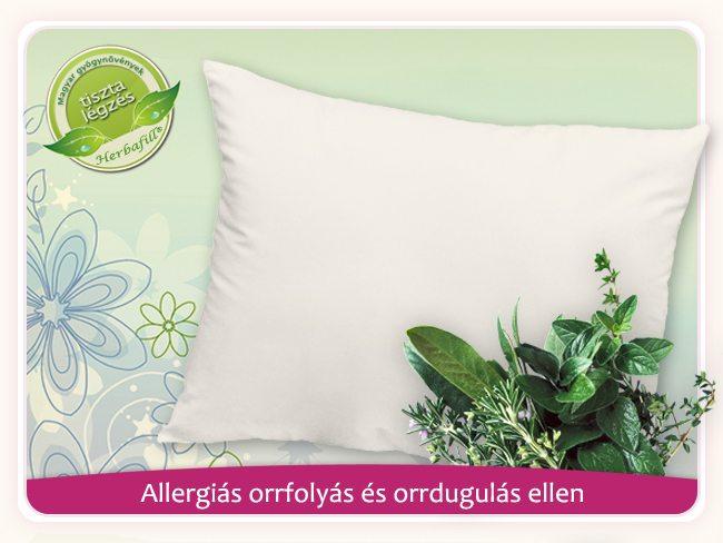 allergiás orrfolyás és orrdugulás elleni párna