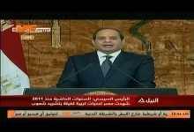 كلمة الرئيس عبد الفتاح السيسي فى الذكرى الخامسة لثورة 30 يونيو