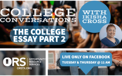College Conversations Episode 9: College Essays Part 2