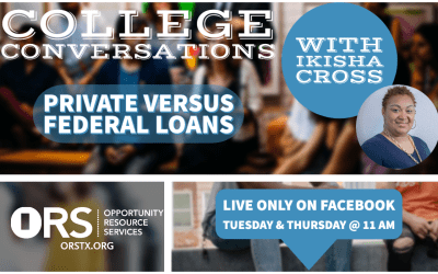College Conversations Episode 13: Private vs Federal Loans