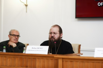 Bishop Irenei speaking on the 'Liturgy of Creation' in St Basil the Great