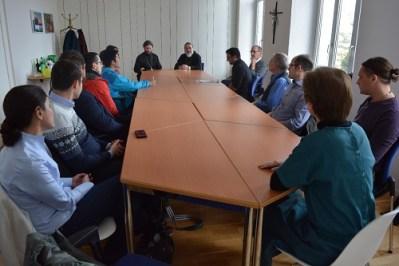 Bishop Alexander with students in Bern