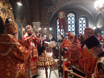 'Many Years' at the end of the Divine Liturgy, Vevey