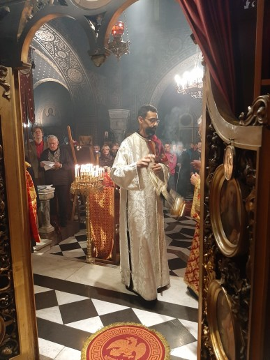 Deacon Aviv censes prior to his ordination as Priest