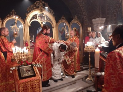 Deacon Aviv is presented for his ordination as Priest