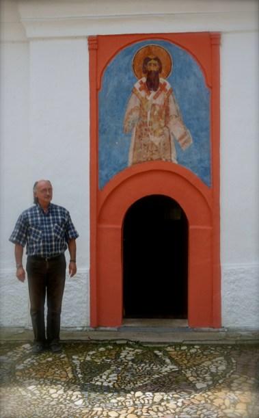 Główne północne wejście do cerkwi monasteru Święty Roman w Serbii